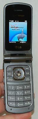 LG VX5500 Verizon Wireless Flip out Keyboard GRAY Cell Phone VGA Camera grey -C-