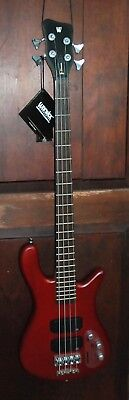 Warwick 4-string Streamer Burgandy Standard Electric Bass Guitar Corvette