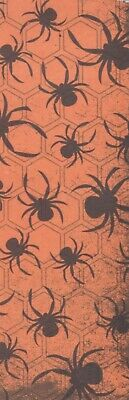 Halloween Spiders decorative paper, laminated bookmark