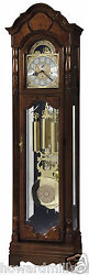 Howard Miller 611-226 Wilford - Traditional Cherry Floor Clock with Bonnet Top