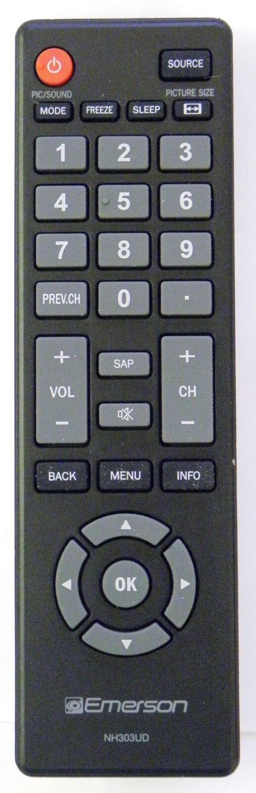 EMERSON NH303UD - NH305UD TV Remote - Genuine Emerson NH303U