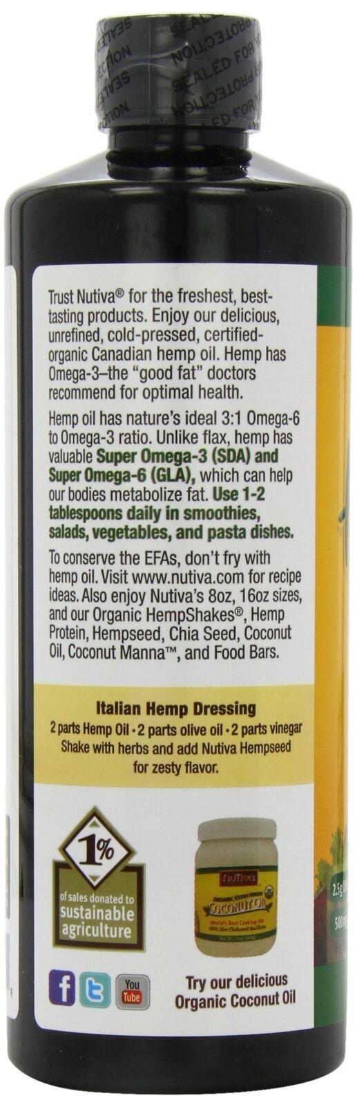 Nutiva Organic Hemp Oil 24 Ounce 4