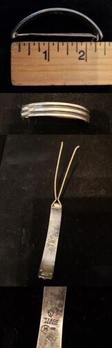 Vintage Sterling Silver Handmade Hair Barrette Clip Signed cf111