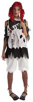 Rag Doll Horror Women's Adult Costume Halloween Shirt Fancy Dress Rubies