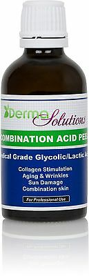 New    Derma Solutions Glycolic   Lactic  Combination Acid Chemical Peel Kit