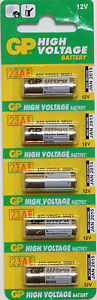5 pcs Alkaline Battery A23 23A V23GA GP23A LR23 MN21 12V