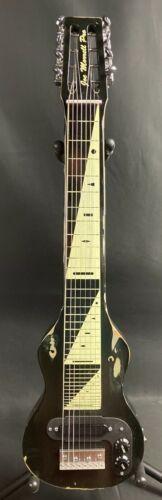 Morrell USA PRO 8 Lap Steel Guitar 8-String Maple Body Vintage Black Relic