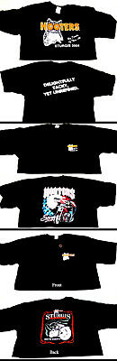 Hooters Uniform Crop Top Half Shirt Biker Dolfin logo shorts Halloween Costume
