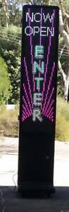 Buy or hire LED sign on wheels 1.98m tall double sided display