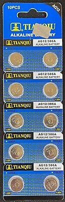 10 AG12 LR43 386 186 1.5V Alkaline Battery Watch Exp 12/2020 USA SHIP