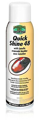 QUICK SHINE 48 Aerosol shoe boot leather Spray Polish Moneysworth and Best
