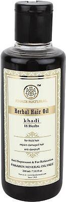 Ayurvedic Herbal Oil (Khadi Natural Ayurvedic Herbal 18 Herbs Hair Oil for Strong Smooth Hair (210)