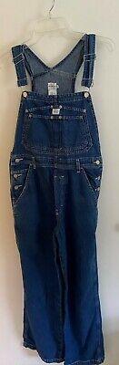 Vintage Overalls & Jumpsuits Calvin Klein Women's Medium M Vintage Denim Overalls Double Stone Wash 32