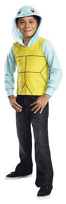Pokemon Novelty Squirtle Hoodie Kids Costume Yellow Belly Fancy Dress - Squirtle Fancy Dress