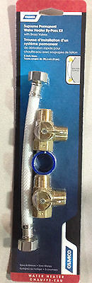 Camco 35953 Hot Water Heater By Pass Winterize Kit Permanent Brass Valves ()