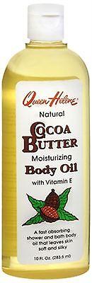 QUEEN HELENE Natural Moisturizing Cocoa Butter Bath and Shower Body Oil 10 (Cocoa Butter Moisturizing Body Oil)
