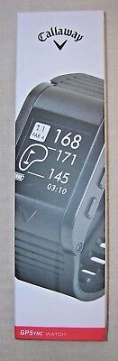 Callaway C70102 GPSync Watch Golf GPS Course & Distance Measurement Score Round