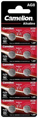 AG8, LR1120, LR55,191, Knopfzellen Batterien Alkaline 1,5V Camelion im 10er-Pack