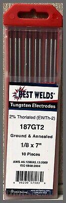 Best Welds® 187GT2 Tungsten Electrodes - Ground & Annealed - 1/8