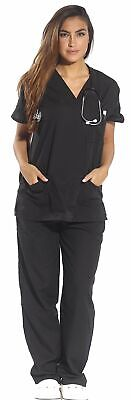 Just Love Women's Scrub Sets Six Pocket Medical Scrubs (V-Neck with Cargo Pant) Medical Scrubs Women