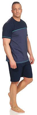 Herren Schiesser Schlafanzug Pyjama Shorty kurz Shorty blau  SK3    UVP 49,95 €
