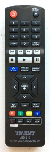 New Lg Blu-ray Dvd Player Replacement Remote Lbd-910 For Bp330 Bp530 Bpm53