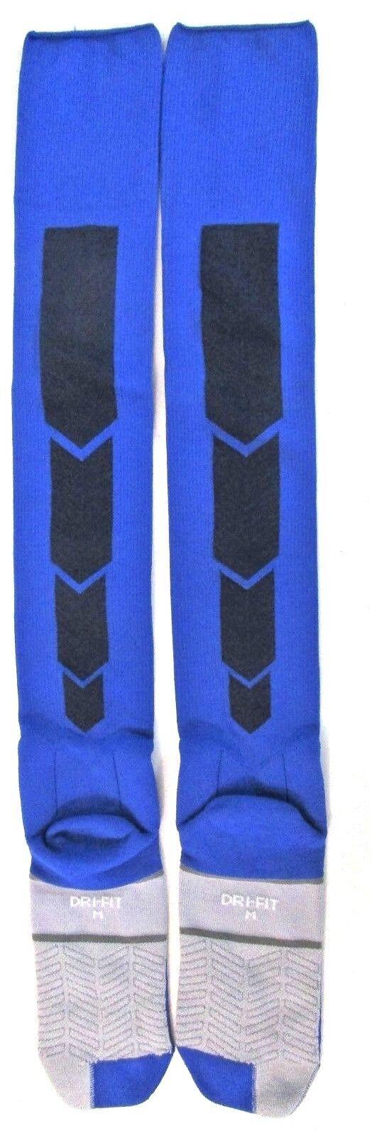 Nike XL Soccer SPORT Classic Socks Blue Gray BLK Cushioned a