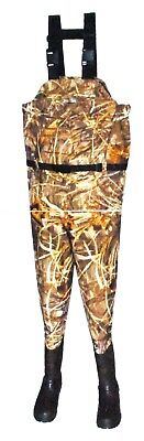 PRO LINE CAMO BREATHABLE CHEST WADER ADVANTAGE MAX-4 CAMOFLAUGE MENS SIZE 11
