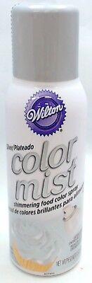 710-5521 - Wilton 1.5 Oz  Silver Color Mist Shimmering Food Color Spray - Silver Food Coloring