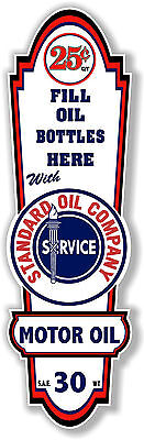 "(STAN-LUB-2) 18"" X 6"" STANDARD OIL COMPANY LUBSTER DECAL LUBESTER OIL CAN GAS"
