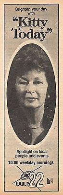 1977 Wwlp Tv  Ad Kathryn Kitty Broman Springfield Massachusetts Kitty Today