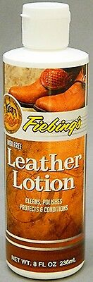 LEATHER LOTION Boot Shoe Purse Conditioner Cleaner Clean Polish Protect FIEBINGS