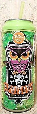 Cool Gear Can Halloween (Cool Gear Can POISON Drink Insulated Travel Cup Straw Owl Halloween Green 16)