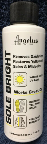Angelus Sole Bright 3.9oz Sole Restorer, Cleans & Removes - Oxidation Yellowing