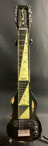 Morrell USA PRO 6 6-String Lap Steel Guitar Vintage Black Relic Finish
