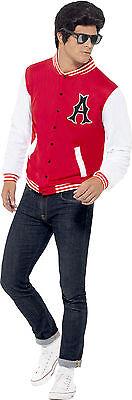 50er Jahre College Jacke für Herren NEU - - 50er Jahre Kostüm Herren