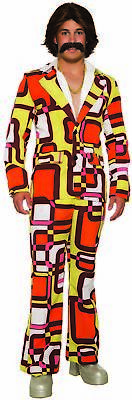 Adult Halloween Costume Patterns (Disco 70's Retro Leisure Suit Block Pattern Funny Men's Adult Halloween)