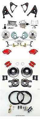 1967-69 Camaro/Firebird Wilwood Brake Kit E-Brake Cables A-Arms Chrome Booster