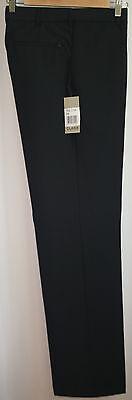 Herren Flat-front Wollhose (Herrenhose Herren Flatfront Hose Anzughose  Wolle blau Gr. 98 neu)