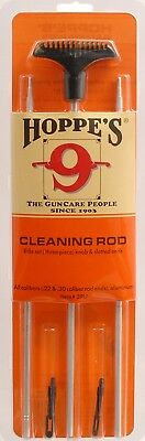 Hoppe's Rifle Gun Cleaning Rod with Patch Tips .22 Cal / 30 Cal Slotted Ends 3PU
