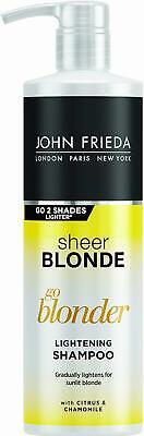 John Frieda Sheer Blonde Go Blonder Lightening Shampoo for Blonde Hair, 500 ml