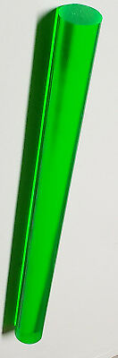 1 Pc 34 Diameter Clear Green Fluorescent Acrylic Plexiglass Rod 12 Inch Long