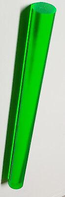 1 Pc 34 Diameter Clear Green Fluorescent Acrylic Plexiglass Rod 12 Inch Long