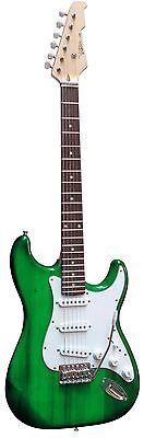 E-Gitarre MSA-Modell-ST5GRT/grün-transparent, Massivholzkörper, Anschlußkabel!n