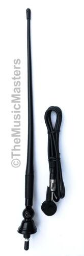"Universal 16"" Flexible Rubber Antenna Mast w/ Ball Base Car Audio Stereo Radio"