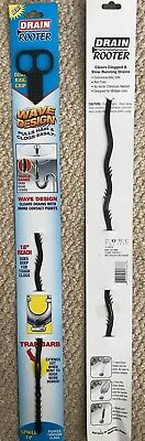 Drain Rooter Snake Hair Clog Remover Cleaner Flexible Plastic Lightweight