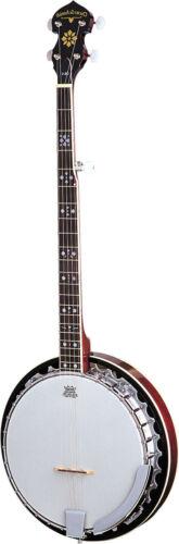 New Oscar Schmidt OB5LH LEFT HANDED 5-String Banjo Mahogany Resonator Bluegrass