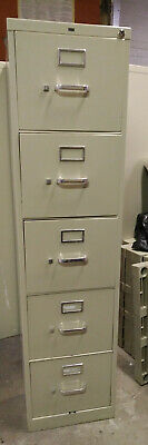 Hon Deep 5 Drawer Locking File Cabinet