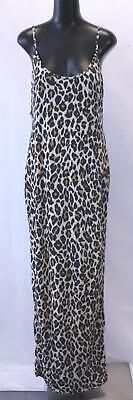 Boohoo Women's Plus Jess Leopard Print Strappy Maxi Dress HD3 Size US:14 UK:18