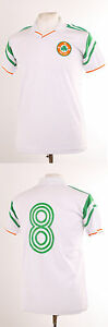 IRELAND EURO 88 1988 RETRO WHITE AWAY HOUGHTON 8 FOOTBALL SHIRT SMALL S